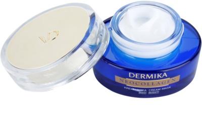 Dermika Neocollagen máscara de noite em creme para regenerar a pele e reduzir as rugas 1