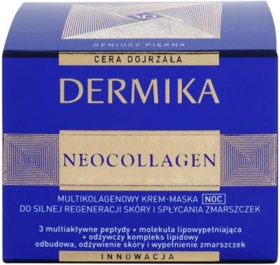 Dermika Neocollagen máscara de noite em creme para regenerar a pele e reduzir as rugas 3