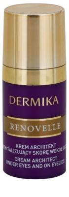 Dermika Renovelle 45+ crema revitalizante para contorno de ojos  antiarrugas y antiojeras