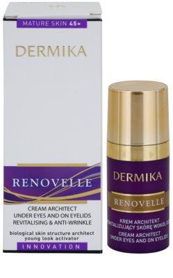Dermika Renovelle 45+ revitalisierende Augencreme gegen Falten und dunkle Augenringe 2