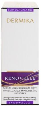 Dermika Renovelle 45+ bőr szérum a bőr kisimításáért és a pórusok minimalizásáért 3