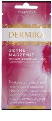 Dermika Night Dream masca de noapte cu efect de regenerare ten uscat