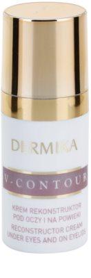 Dermika V-Contour crema restauradora para contorno de ojos