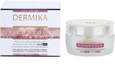 Dermika V-Contour crema nutritiva  para arrugas profundas 2