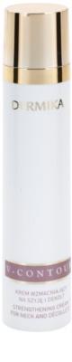 Dermika V-Contour lift crema de fata pentru fermitate pentru gat si decolteu