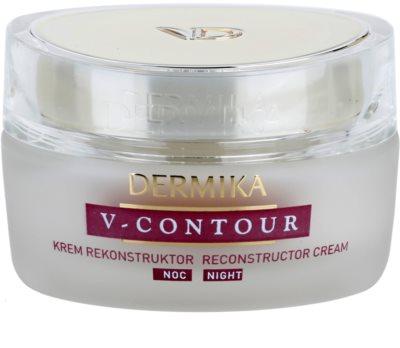 Dermika V-Contour crema de noche reparadora  con efecto antiarrugas