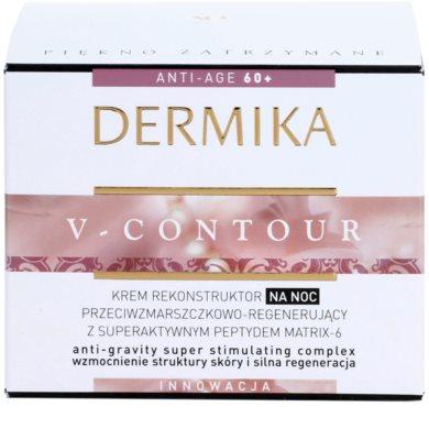 Dermika V-Contour creme de noite renovador com efeito antirrugas 3