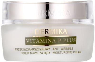 Dermika Vitamina P Plus crema hidratanta anti-rid pentru piele sensibila cu tendinte de inrosire
