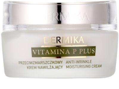 Dermika Vitamina P Plus crema hidratante antiarrugas para pieles sensibles con tendencia a las rojeces