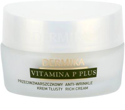 Dermika Vitamina P Plus creme antirrugas nutritivo para a pele sensível com tendência a aparecer com vermelhidão 1