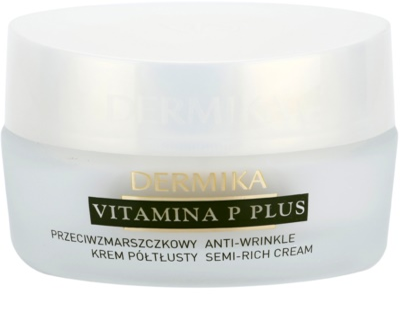 Dermika Vitamina P Plus crema antiarrugas para pieles sensibles con tendencia a las rojeces 1