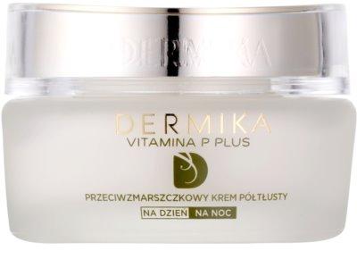 Dermika Vitamina P Plus creme antirrugas para a pele sensível com tendência a aparecer com vermelhidão