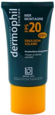 Dermophil Sun сонцезахисний крем для шкіри обличчя та тіла проти високого сонячного впливу SPF 20