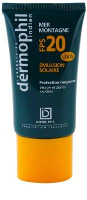 Dermophil Sun krema za sončenje za obraz in kožo izpostavljeno povečanemu sončnemu sevanju SPF 20