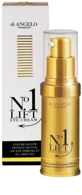 Di Angelo Cosmetics No1 Lift crema para contorno de ojos para alisar las arrugas en un solo instante