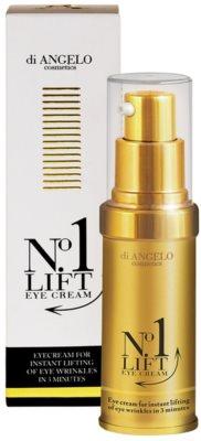 DiAngelo Cosmetics No.1 Lift Eye Cream Augencreme zum sofortigen Glätten von Falten