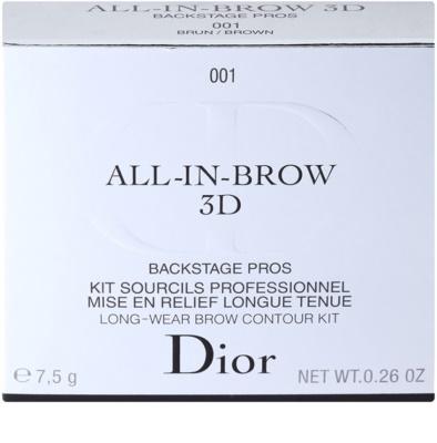 Dior All In Brow 3D set pentru sprancene perfecte 3