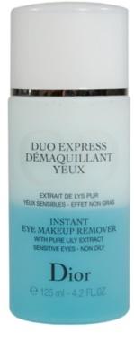 Dior Cleansers & Toners dwufazowy płyn do demakijażu oczu dla cery wrażliwej