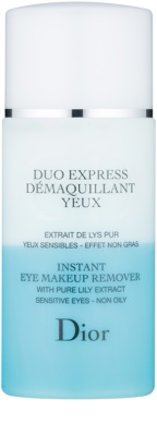 Dior Cleansers & Toners kétkomponensű sminklemosó szemre az érzékeny arcbőrre