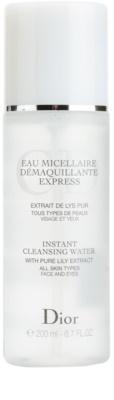 Dior Cleansers & Toners mizellarwasser zum Abschminken für alle Hauttypen