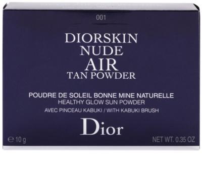 Dior Diorskin Nude Air Tan Powder Bronzepuder für gesundes Aussehen mit Pinselchen 2