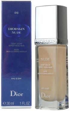 Dior Diorskin Nude tekutý make-up SPF 15 3
