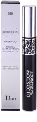 Dior Diorshow Mascara Waterproof hosszabbító és dúsító szempillaspirál vízálló 2