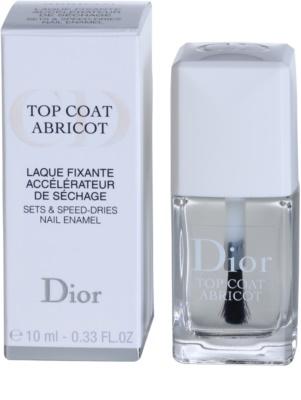 Dior Top Coat Abricot esmalte de uñas con fórmula de secado rápido para uñas 2