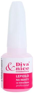 Diva & Nice Cosmetics Accessories lepilo za nohte s čopičem