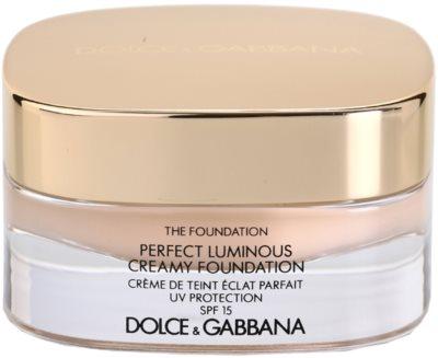 Dolce & Gabbana The Foundation Perfect Luminous Creamy Foundation maquillaje efecto piel seda para iluminar la piel