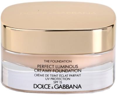 Dolce & Gabbana The Foundation Perfect Luminous Creamy Foundation žametni tekoči puder za osvetlitev kože