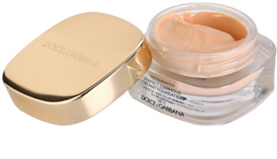 Dolce & Gabbana The Foundation Perfect Luminous Creamy Foundation base veludosa para pele radiante 1