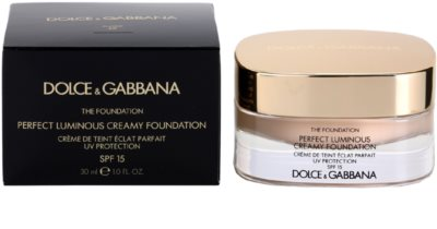 Dolce & Gabbana The Foundation Perfect Luminous Creamy Foundation base veludosa para pele radiante 3