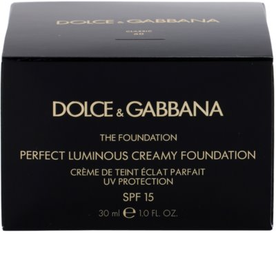 Dolce & Gabbana The Foundation Perfect Luminous Creamy Foundation base veludosa para pele radiante 4