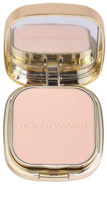Dolce & Gabbana The Foundation Perfect Matte Powder Foundation matirajoča pudrasta podlaga z ogledalom in aplikatorjem