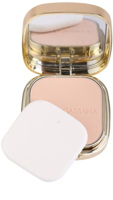 Dolce & Gabbana The Foundation Perfect Matte Powder Foundation matujący, pudrowy podkład z lusterkiem i aplikatorem 1