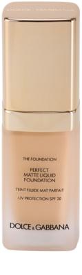 Dolce & Gabbana The Foundation Perfect Matte Liquid Foundation Make-Up für mattes Aussehen