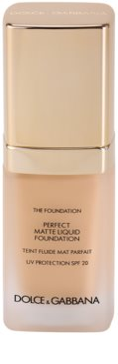 Dolce & Gabbana The Foundation Perfect Matte Liquid Foundation make-up matt hatásért