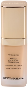 Dolce & Gabbana The Foundation Perfect Matte Liquid Foundation фон дьо тен за матиране