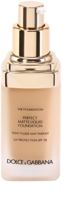 Dolce & Gabbana The Foundation Perfect Matte Liquid Foundation maquillaje de acabado mate 1