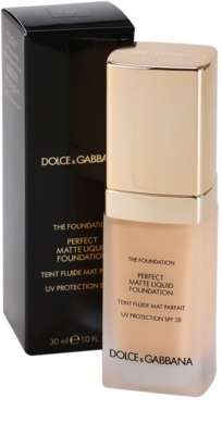 Dolce & Gabbana The Foundation Perfect Matte Liquid Foundation maquillaje de acabado mate 2