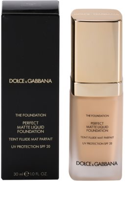 Dolce & Gabbana The Foundation Perfect Matte Liquid Foundation maquillaje de acabado mate 3