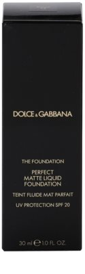 Dolce & Gabbana The Foundation Perfect Matte Liquid Foundation maquillaje de acabado mate 4