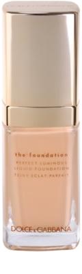 Dolce & Gabbana The Foundation Perfect Luminous Liquid Foundation könnyű bársonyos make-up az élénk bőrért