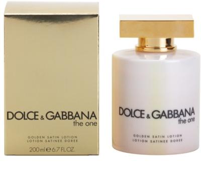Dolce & Gabbana The One losjon za telo za ženske  zlat saten