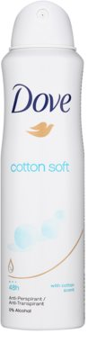 Dove Cotton Soft antiperspirant ve spreji 48h 1