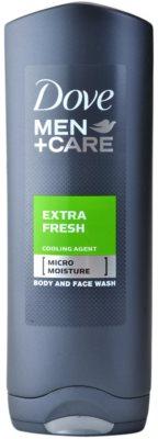 Dove Men+Care Extra Fresh gel de duche para corpo e rosto