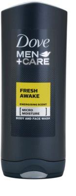 Dove Men+Care Fresh Awake gel za prhanje za obraz in telo
