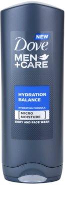 Dove Men+Care Hydration Balance душ гел за тяло и коса за мъже