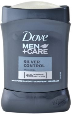 Dove Men+Care Silver Control tuhý antiperspitant 48h 1